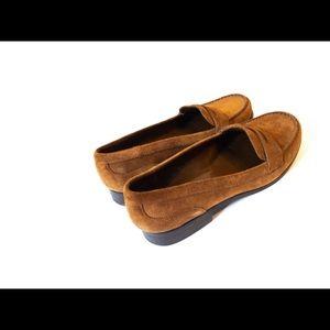 👞 🔥 Franco Sarto Brown Suede Penny Loafers SZ 9